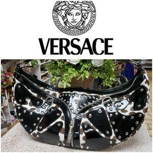 VERSACE Patent leather / Genuine fur